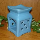 Ceramic Tart Burner - Blue with Polka Dot Design