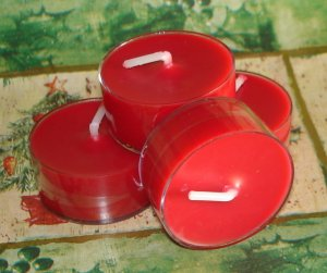 Four Soy Tealight Candles - Christmas Splendor Holiday Fragrance