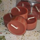 Four Soy Tealight Candles - Cinnamon Holiday Fragrance