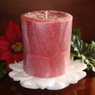 Holiday Feather Palm Wax Pillar - CRANBERRY SPICE