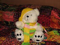 White Plush Bear with Custom Outfit