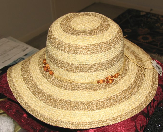 "Wide Brimmed (3 1/2"") Ladies' Natural Straw Hat"
