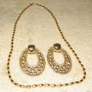 Vintage Costume Jewelry Goldtone Napier Necklace & Earrings