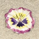 Vintage Costume Jewelry Enamel Painted Unique Flower Pin