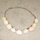 Vintage Costume Jewelry Shell & Bead Necklace