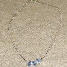 Vintage Costume Jewelry Silvertone & Bead Necklace