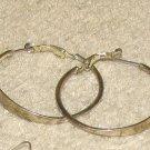 Costume Jewelry Silvertone Hoop Earrings for Pierced Ears