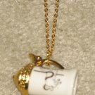 Vintage Costume Jewelry Goldtone Chain with Dangling Megaphone