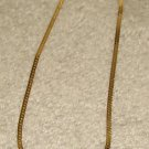 "Vintage Costume Jewelry 18"" Goldtone with Rhinestones Necklace"
