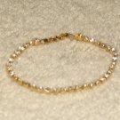 Vintage Costume Jewelry Goldtone & Rhinestone Tennis Bracelet