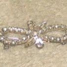 "Vintage Costume Jewelry 2"" Rhinestone BowPin"