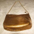 Ladies Vintage late 70's Gold Metallic Evening Purse