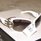 New 2015 DG44 White, Silver Fashion Sunglasses
