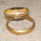 Vintage Costume Jewelry 2 Goldtone Bangle Bracelets - small lot
