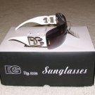 Ladies Fashion Sunglasses NEW 2015 DG102 White Arms w Silver DG FREE SHIPPING!