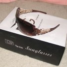 DG337 NEW 2015 Brown with Gold Ladies Men's Fashion Sunglasses FREE SHIPPING!