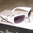 DG61 Ladies 2015 NEW White & Silver Studs Fashion Sunglasses FREE SHIPPING!