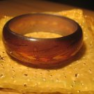 Brown handpainted wheat motif resin bangle (£8.50)
