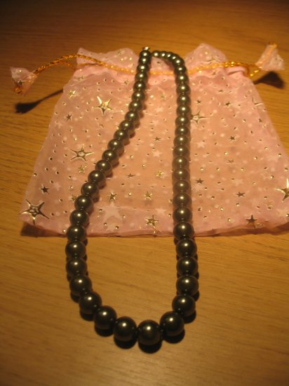 String of dark grey faux pearls (£9.00)