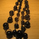 Black glass bead necklace (£11.00)