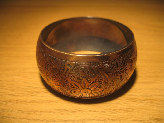 Copper antique finish bangle (£12.00)