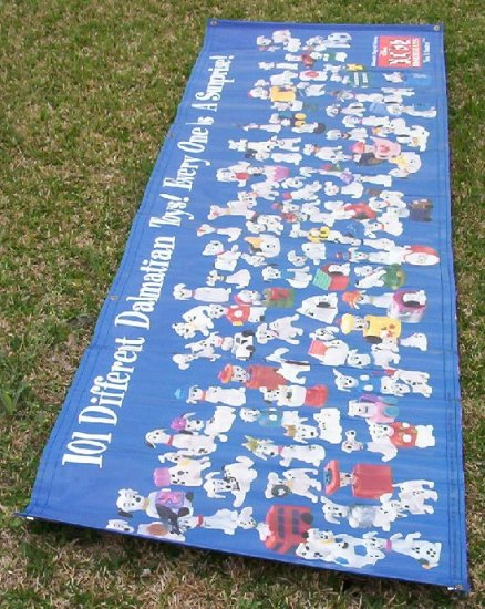 101 Dalmations Happy Meal Toy Banner