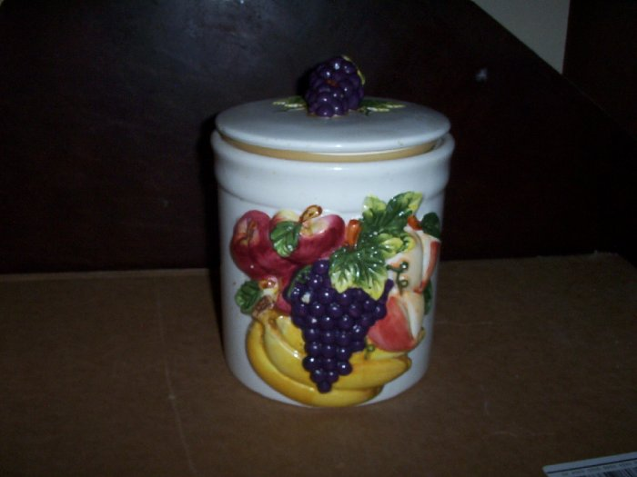 Vintage Cookie Jar with Fruit