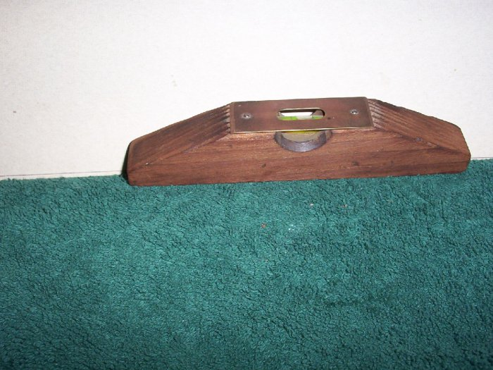 Correct Level  Wooden with Brass Face Plate