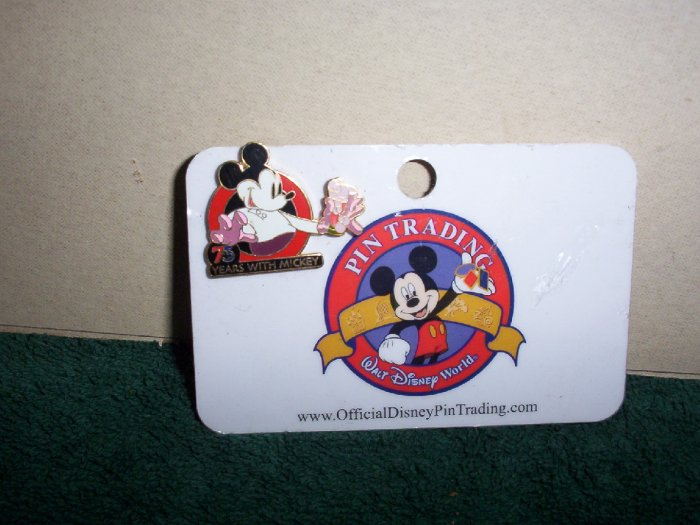 75 Years with Mickey Mouse Collectors Pin on Card