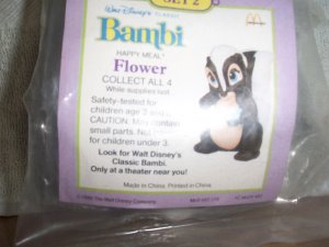 McDonalds 1988 Flower the Skunk from Bambi