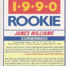 James Williams 1990 Score Rookie Card