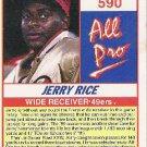 Jerry Rice  All Pro  1990 Score
