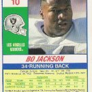 Bo Jackson Mint Football Card  1990 Score  Bo Knows