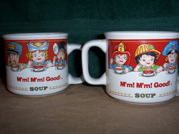 Pair of Campbells Kids Soup Mugs