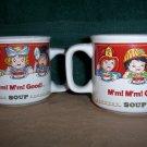 Pair of Campbells Kids Soup Mugs