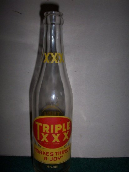 Triple XXX Soda Bottle