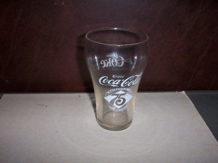 75th Anniversary Coca Cola Glass