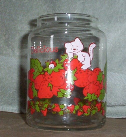 Strawberry Shortcake Glass Cannister
