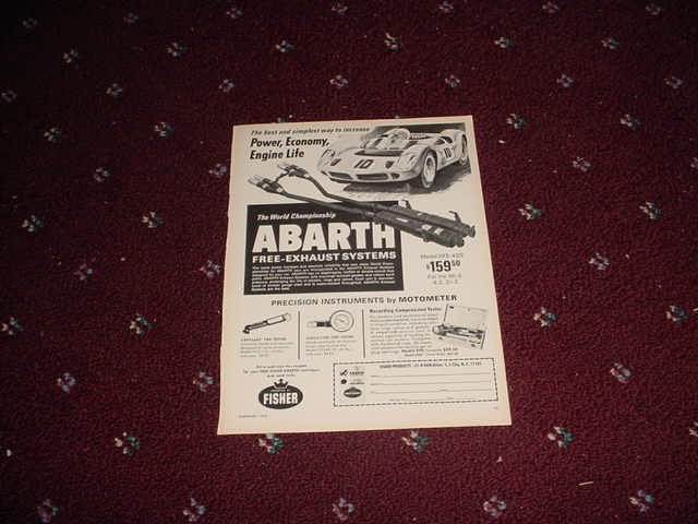 1970 Abarth Exhaust Systems ad