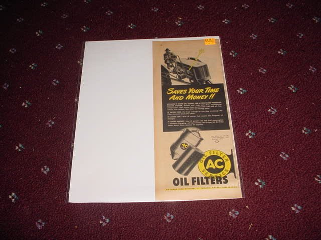 1946 AC Oil Filter ad