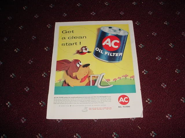 1958 AC Oil Filter ad