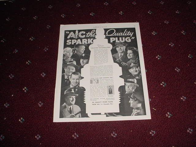 1935 AC Spark Plug ad