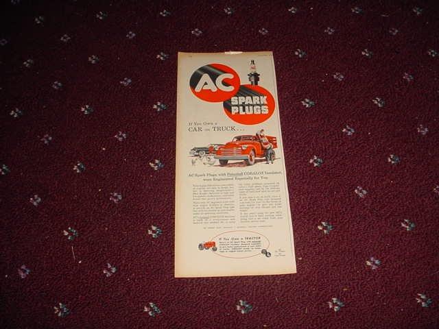 1951 AC Spark Plug ad #1