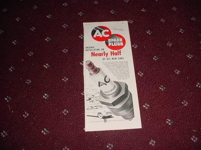 1952 AC Spark Plug ad #1
