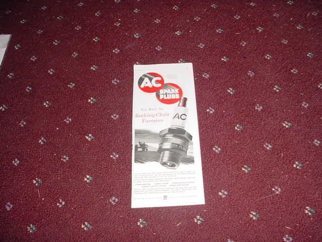 1952 AC Spark Plug ad #2