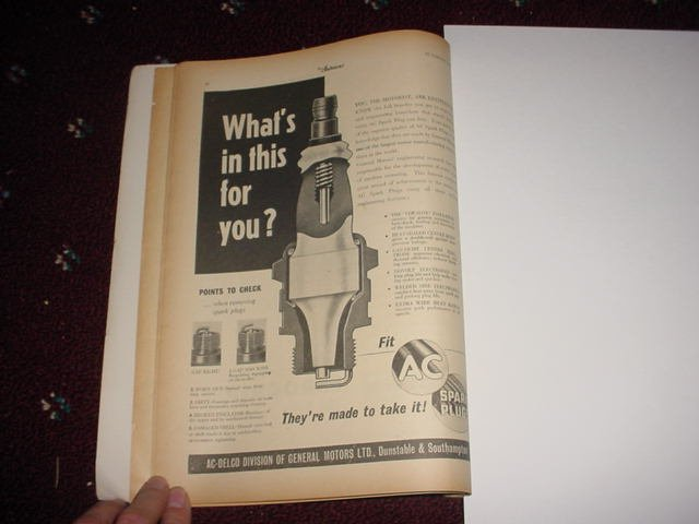 1955 AC Spark Plug ad from the UK #1