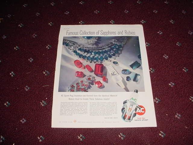 1956 AC Spark Plug ad