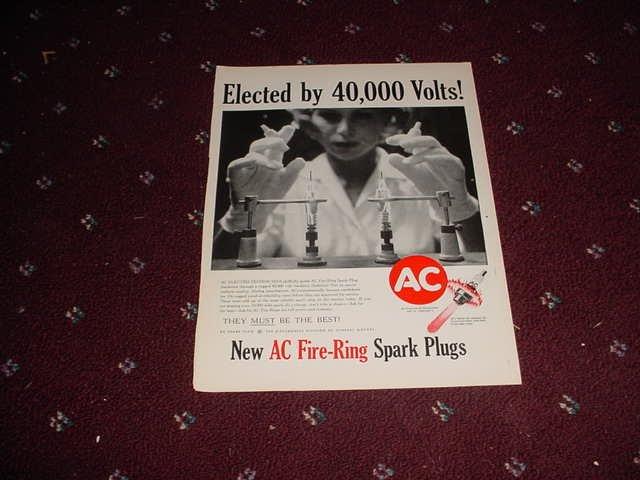 1960 AC Spark Plug ad #1