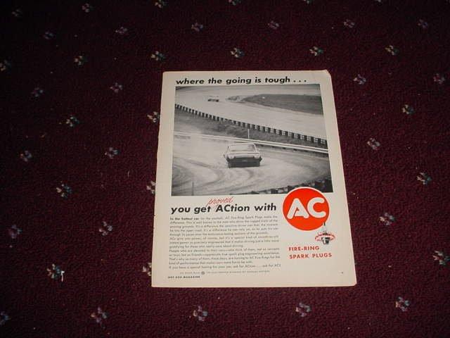 1962 AC Spark Plug ad