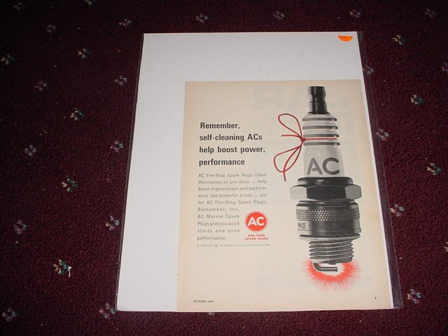 1964 AC Spark Plug ad